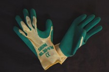 Sturdy Green Gardening Gloves