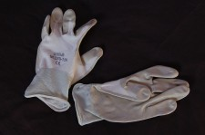 Thin White Gardening Gloves